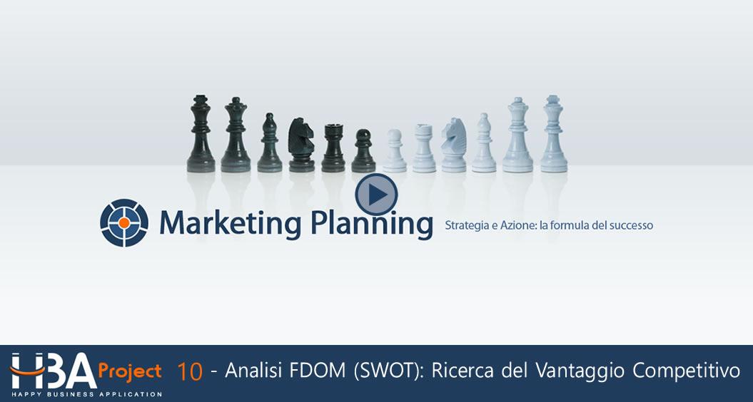 Video-guida: Analisi FDOM (SWOT); Ricerca del Vantaggio Competitivo