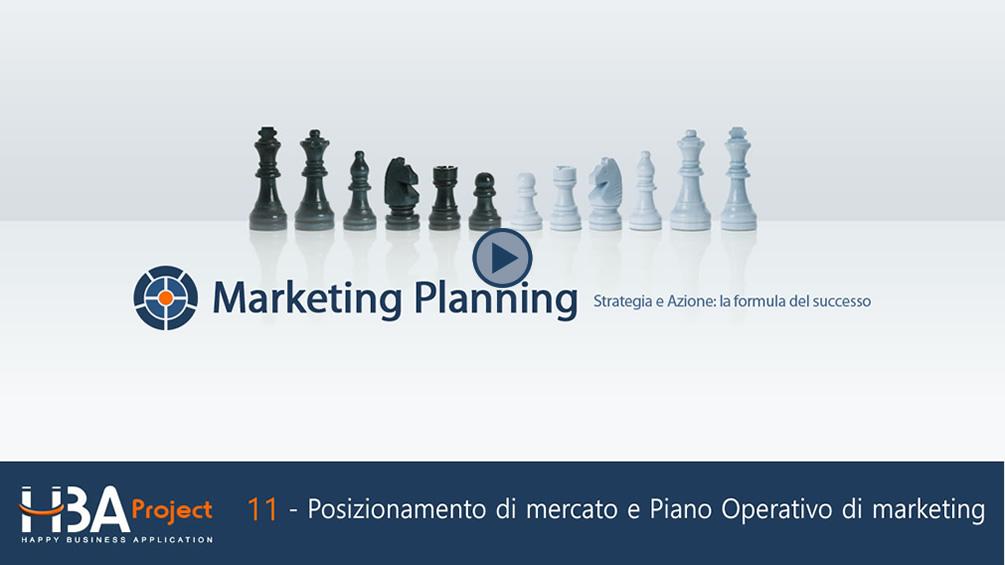 Video-guida: Posizionamento di mercato e Piano Operativo di marketing